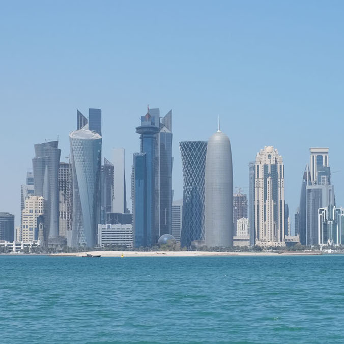 Downtown Doha in relatively good air